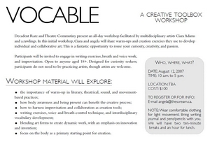 Vocable Workshop